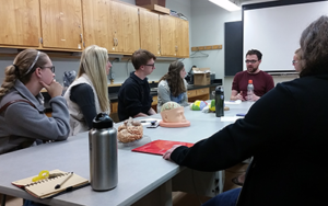 Daniel Bradford mentors the lab undergraduates